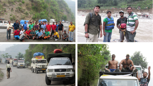 """Rishikesh Team"" on their mission – charged and happy to be able to help"