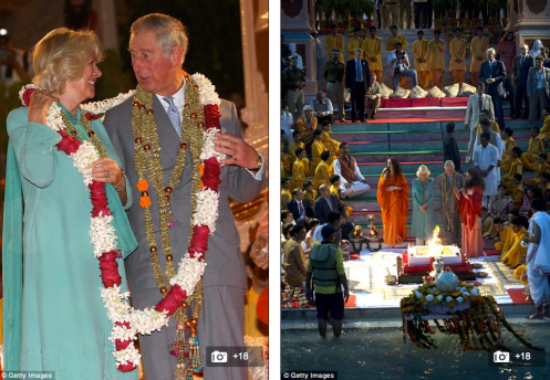 Charles and Camilla in Rishikesh